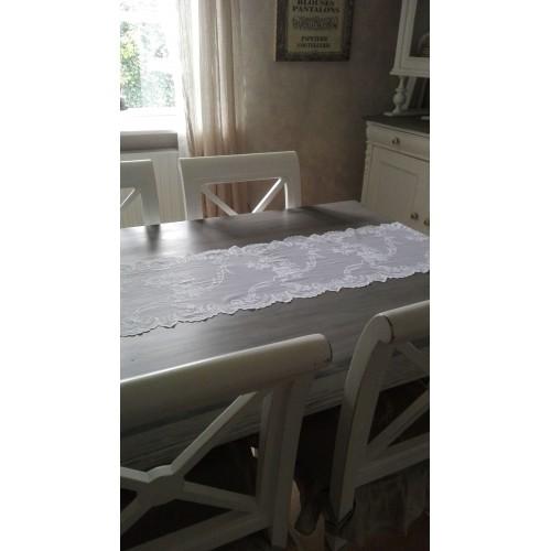 Hvid blonde bordløber pr. meter-Solgt