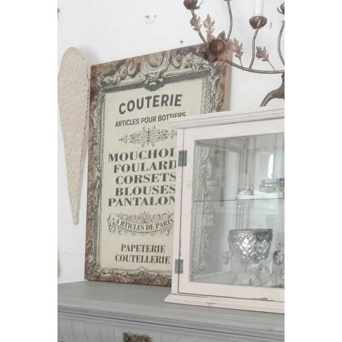 Fransk canvasbillede på opspændt træ-ramme