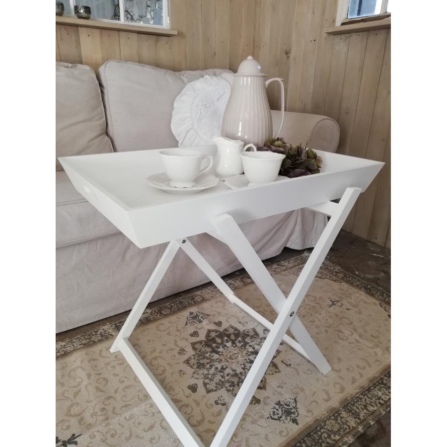 Topmoderne Hvidt bakkebord | Romantisk hvid stil JX-21