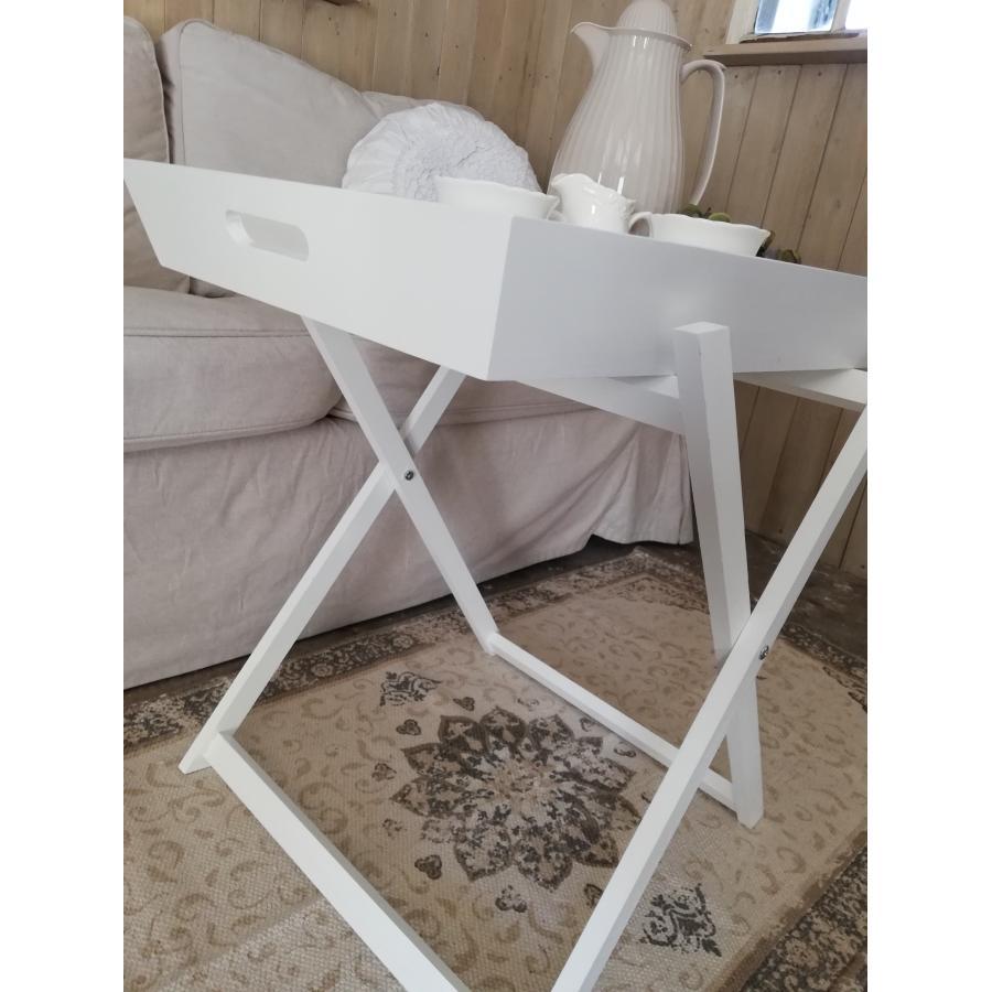 Topmoderne Hvidt bakkebord | Romantisk hvid stil ZS-33